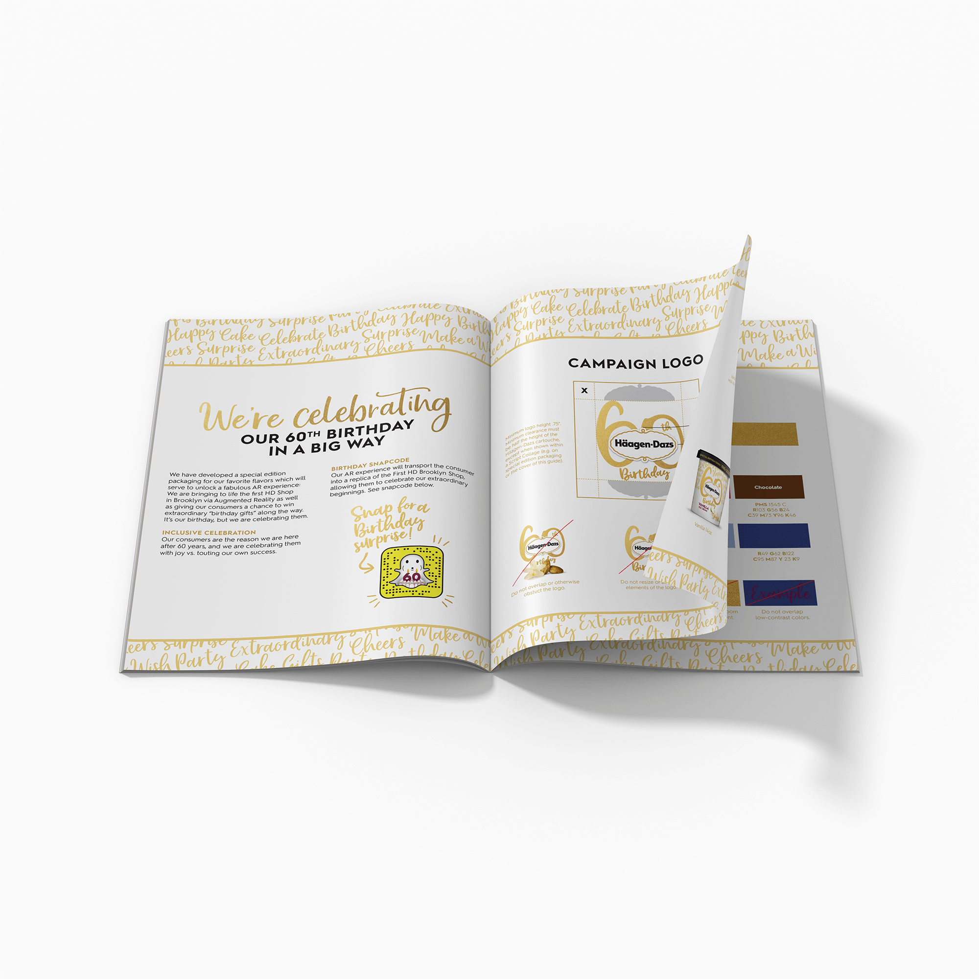 As lead agency for this integrated campaign, Alcone kept other agencies on point with a style guide for consistent use of brand assets.