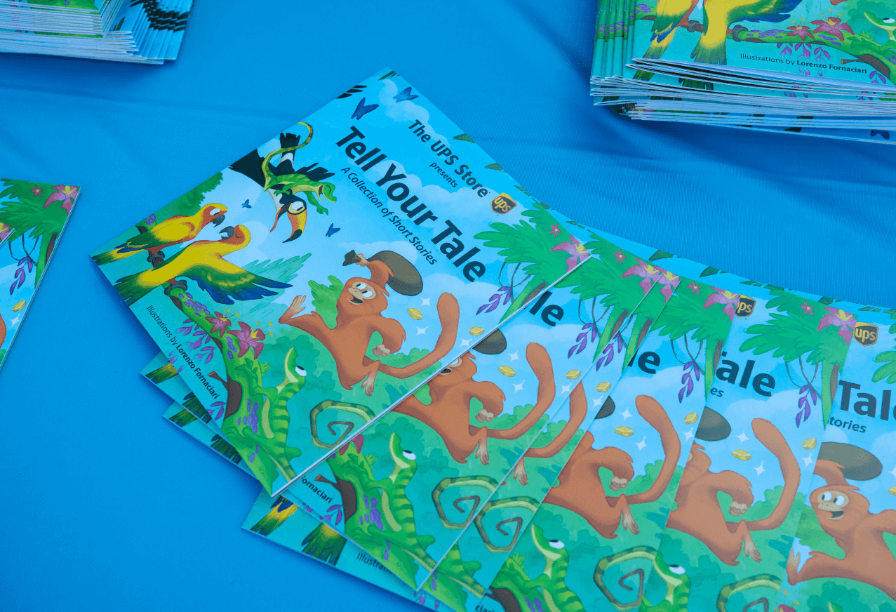 The UPS Store invited children to write short stories inspired by the year's 2020 float. Three winners won $10K scholarships for their schools and had their stories published and distributed at the Post Parade celebration.
