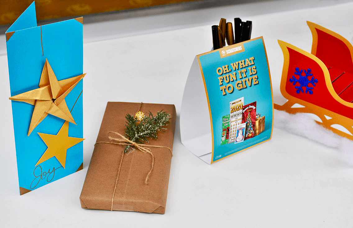 Alcone distributed over 3,000 craft kits to holiday shoppers to personalize their gift of Scratchers<sup>®</sup>.