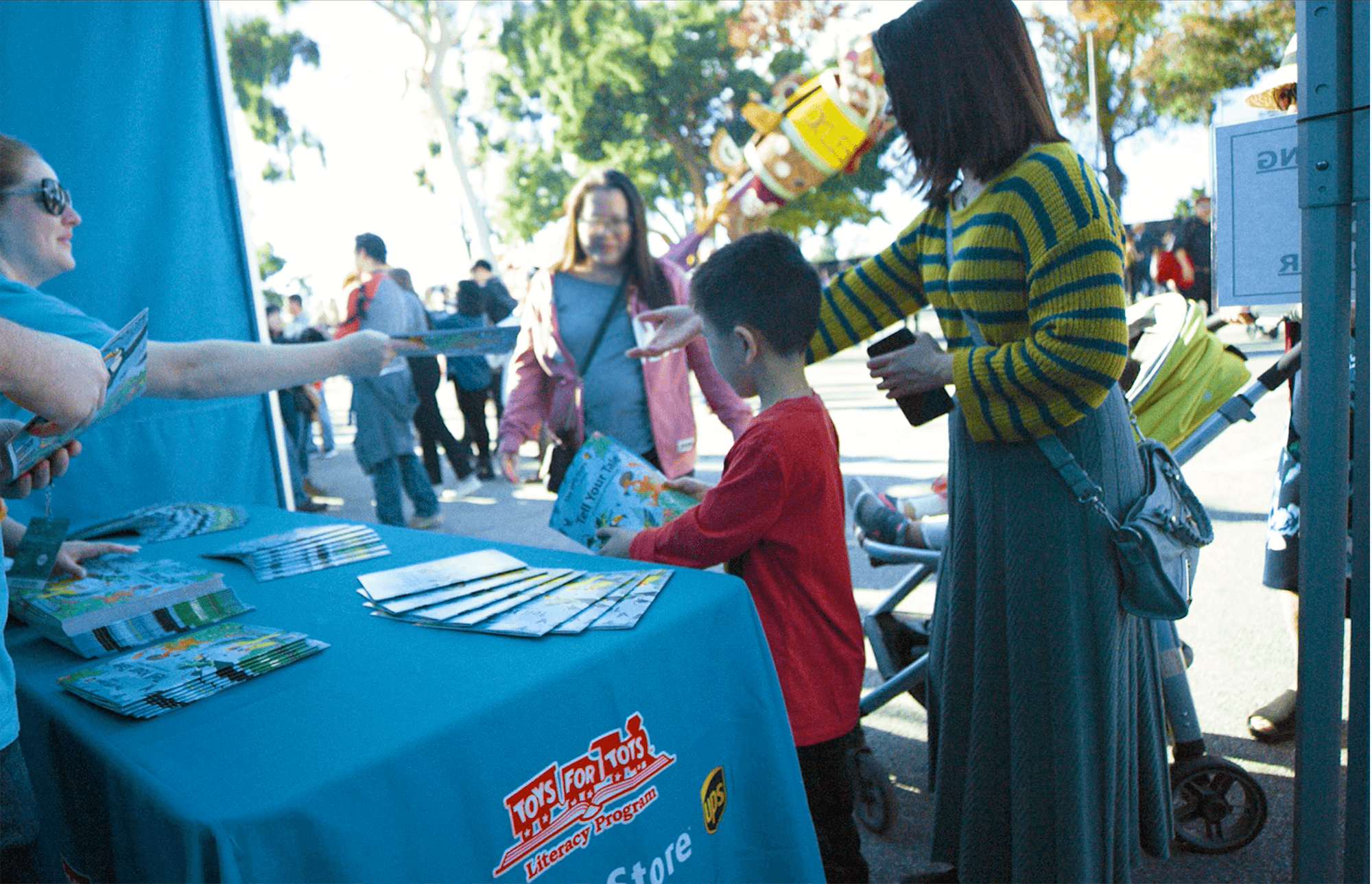 We distributed 10,000 free books featuring the winning short stories to children at the Post Parade celebration, helping to open a world of opportunity for America's kids.