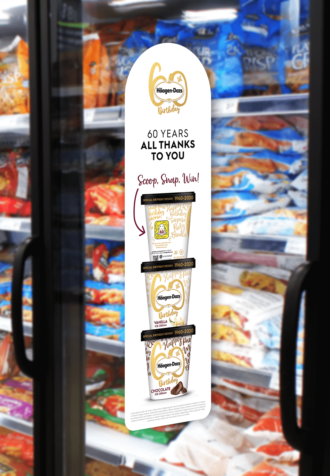 Alcone dialed up the appetite appeal with decadent signage that got shoppers in the mood for their favorite flavors.